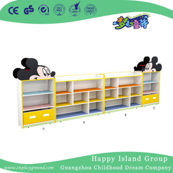 Factory Direct Sale Mickey Shaped Toy Storage Cabinet Combination (HJ-6604)