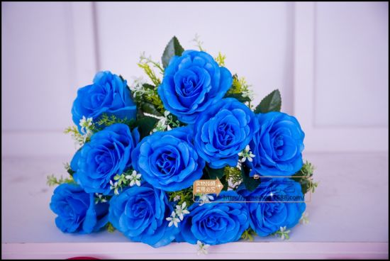 10 Head Rose Flower Bridesmaid Silk Flower for Home Wedding Decor
