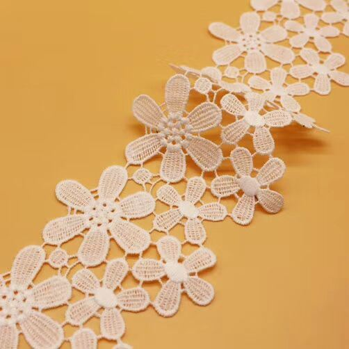 High Quality Cotton Water Soluble Embroidery Lace for Garment