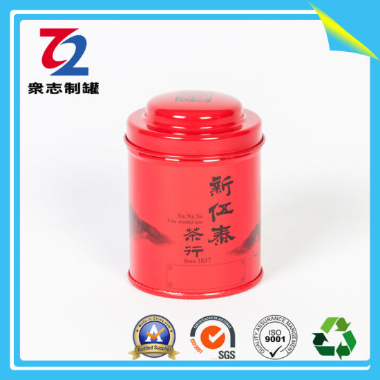 Round Tin Can Packaging Box Metal Tea Coffee Food Tin with Airtight Lid pictures & photos