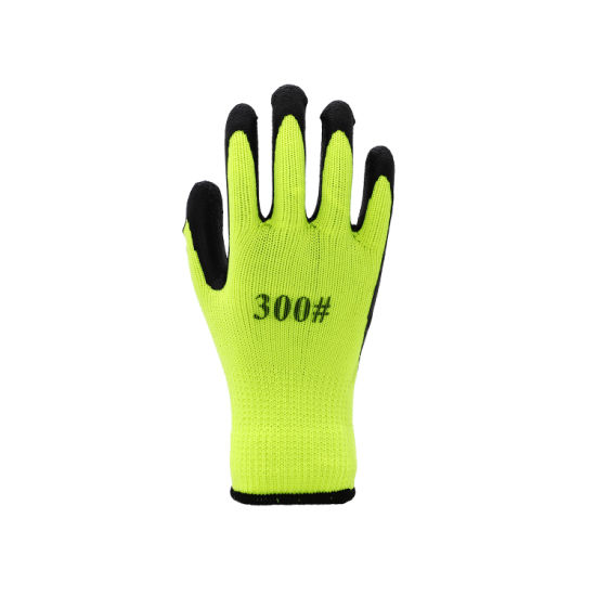 Hair Ring Latex Crease Cotton Labour Working Gloves