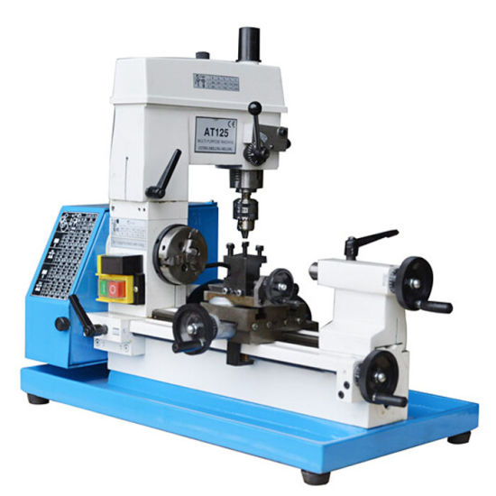 AT125 CE High Precision Drilling and Milling hobby Mini Metal Lathe