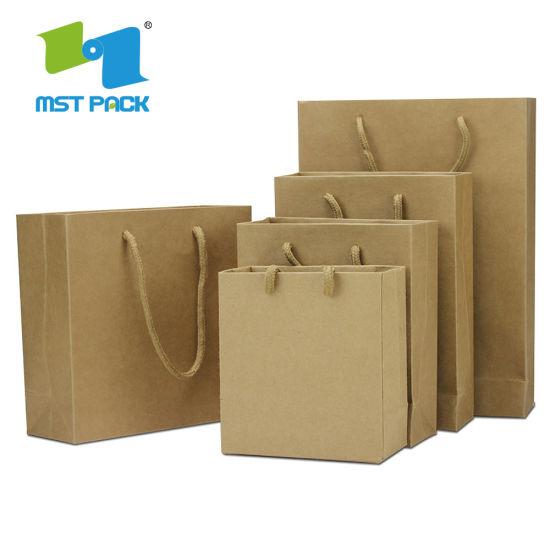 Recycled Custom Design Standard Kraft Paper Bag Customised Sizes