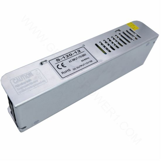 120W 12V Classic Slim LED DC Power Driver SMPS, Single Output Indoor  Transformer AC DC Converter Adapter SMPS for Lightbox