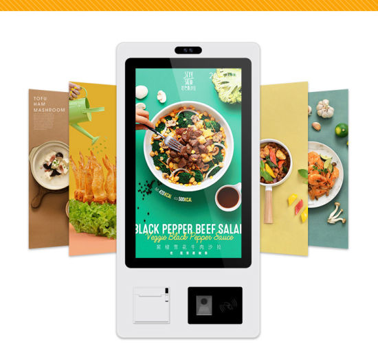 23.8 Inch Touch Screen One-Stop Restaurant/Shopping Self-Service Payment Kiosk