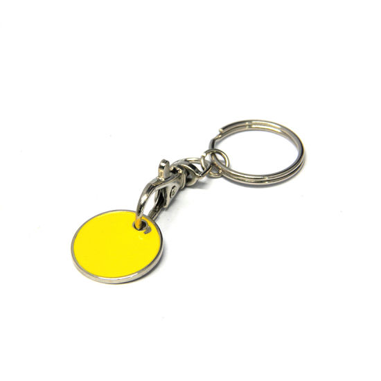 Zinc Alloy Metal Type and Customized Shape Shape Shopping Trolley Coin Keyring pictures & photos