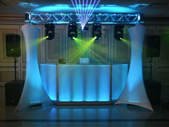 Portable Exhibition Lighting : China small stage lighting truss totem portable stage lighting truss