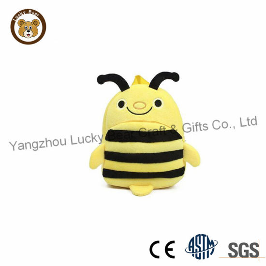 Cute Children's School Bag Plush Animal Bee