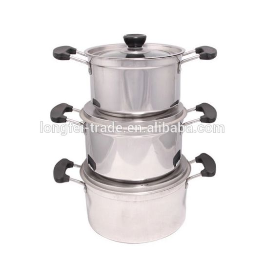 Jumbo Cookware Set Stainless Steel Soup Pot Cookware with Magentic