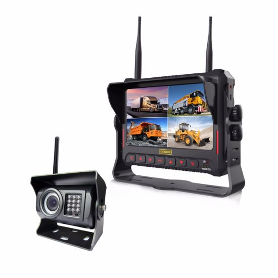 7inch 4CH Digital Wireless Rear View System with Recording System for Vehicle pictures & photos