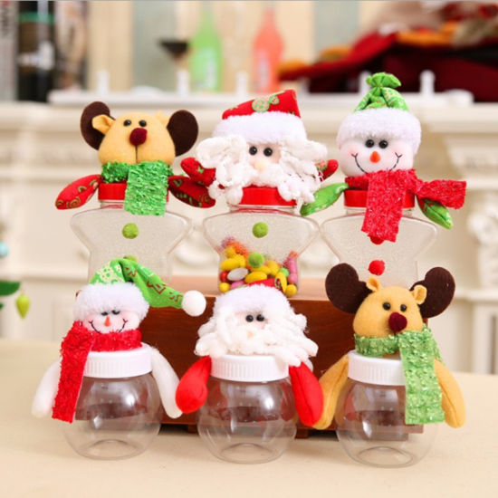 Cute Candy Jars Santa Claus Reindeer Snowman Storage Can pictures & photos