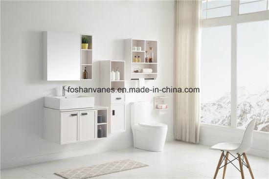 Wooden Bathroom Furniture MDF Furniture White Vanity Cabinet RM8825