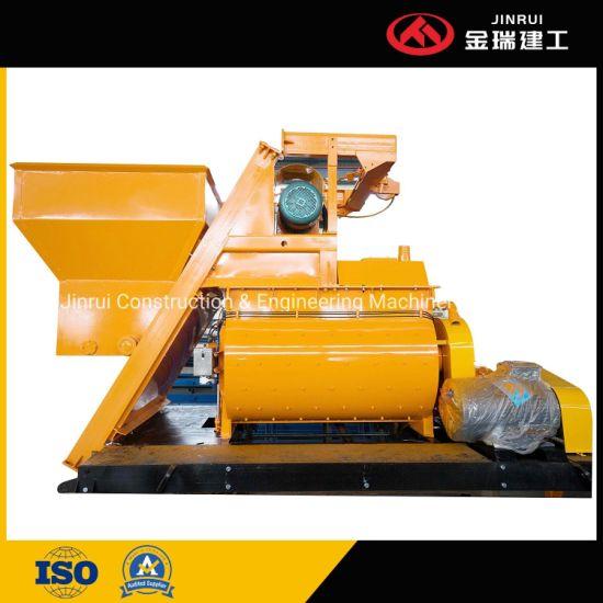 Jinrui Mobile Electric Self-Loading Horizontal Precast Concrete Mixing Batch Batching Mixer Machine Js1500ah