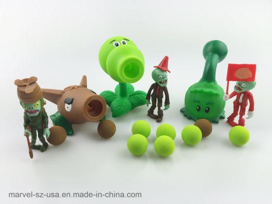 Pvz Plants Vs Zombies Peashooter PVC Action Figure Model Miniature Toy
