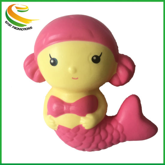Squishy PU Toy Mermaid Stress Ball and Anxiety Reducer Soft and Squishy Creative PU Toy