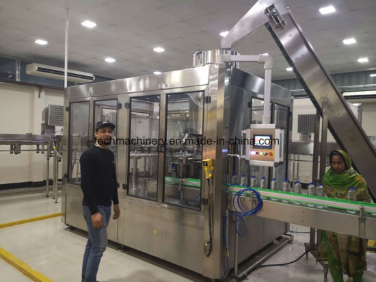 Automatic Pure Drinking Water Beverage Liquid Bottling Plant Line 3in1 Filling Machine with Factory Price