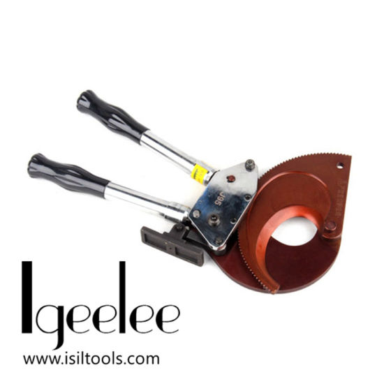 Igeelee Hot Hand Industrial Mechanical Ratchet Heavy Duty Electric Copper Aluminum Armored Power Cable Wire Cutter Cutting Tools J95 pictures & photos