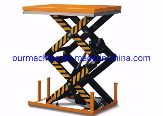 Hot Sale 1t 2t 4t Electric Double Scissor Lift Table HD4000