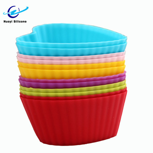 Supply High Temperature Flexible Silicone Cup Baking Cake Mold