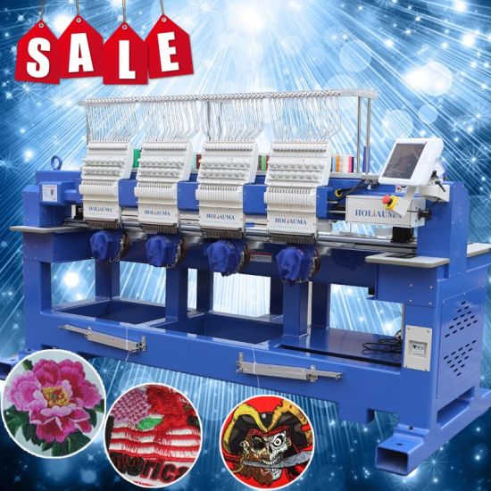 Multi Function Hat/3D/Tshirt/Flat/Sequin Schiffli Type Comptuerized Embroidery Machine Top Daohao A18 4 Head Embroidery Machine