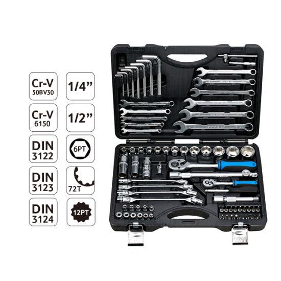 Fixtec Professional 76 PCS Socket Tool Set Car Repair Hand Tool Kit