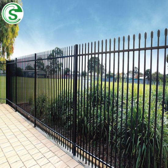 Excellent Black Powder Coated Garden Garrison Fencing