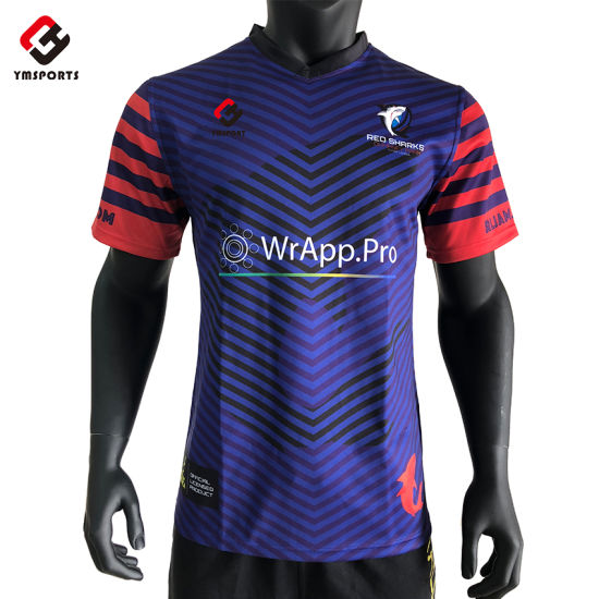 Men's Sublimation Printed Breathable Rugby Shirts