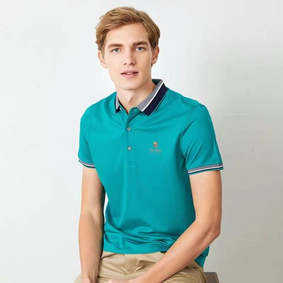 Wholesale Brand Men Golf Shirts Polo Fashion 100% Polyester Dri Fit Slim Fit Men's Polo Shirt