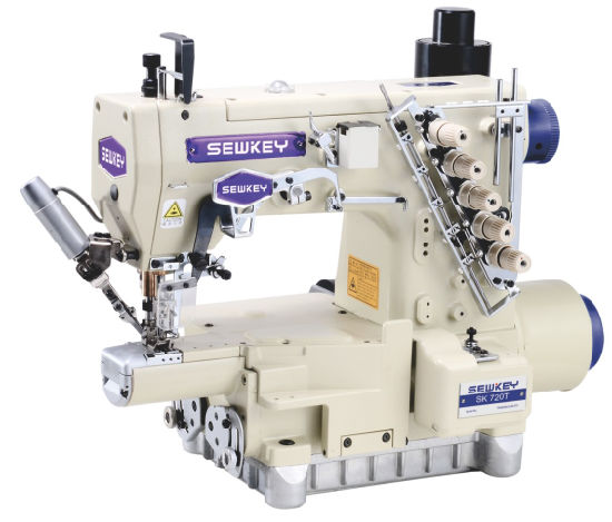 Sk720t-Ut/787t-Ut High-Speed Automatic Trimming Stretch Sewing Machine