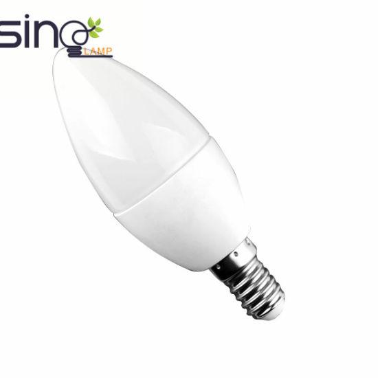 C37 Candle Shape LED Bulb 7W E27/E14 Base Ce RoHS Energy Saver Lamp