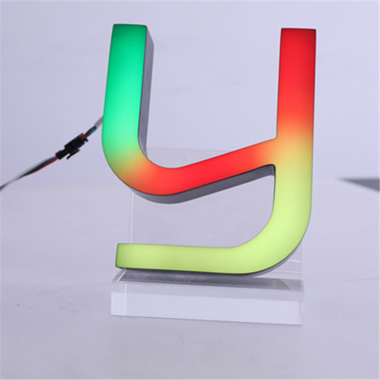 Day and Night RGB LED Sign Letter, Acrylic Letter