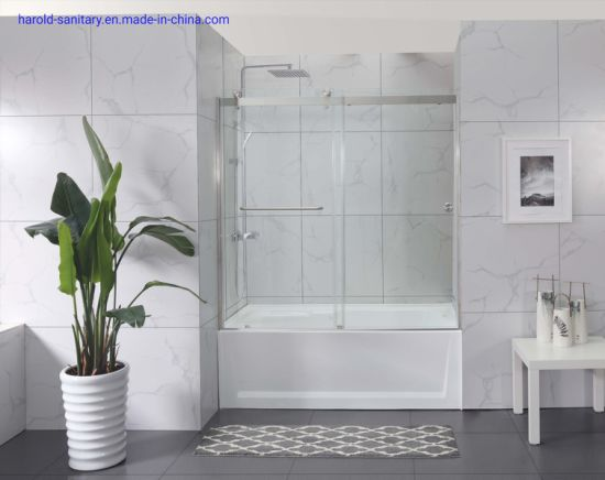 8mm Double Sliding Bath Enclosure Bathtub Screen