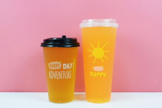 500ml Disposable Plastic PP Cup 16oz Injection / Thermal Cup for Juice with Customized Logo