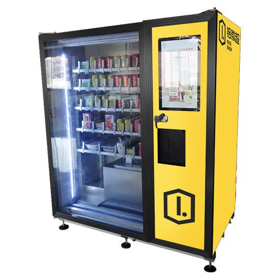 Aluminium Self Automatic Coffee Machine Cold Drink Snack Vending Machine