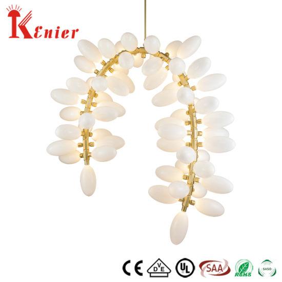 5star Hotel Good Quality Opal White Glass Modern Chandelier Lighting