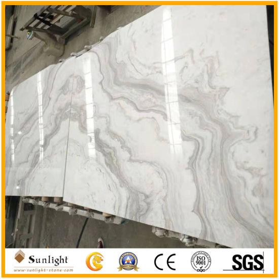Natural Greece Volakas White Marble Slabs for Flooring Tile, Slab, Countertop