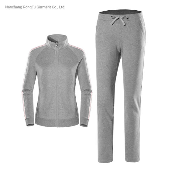 Outdoor Sports Leisure 2-Piece Breathable Sports Women's Knitted Tracksuit