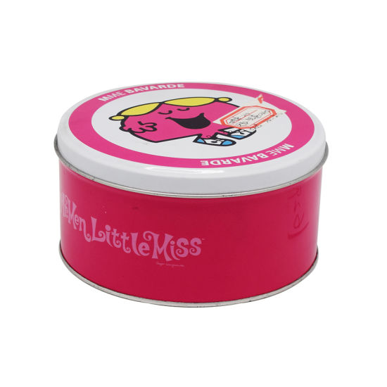 Customized Round Tin Box Packaging for Cookie