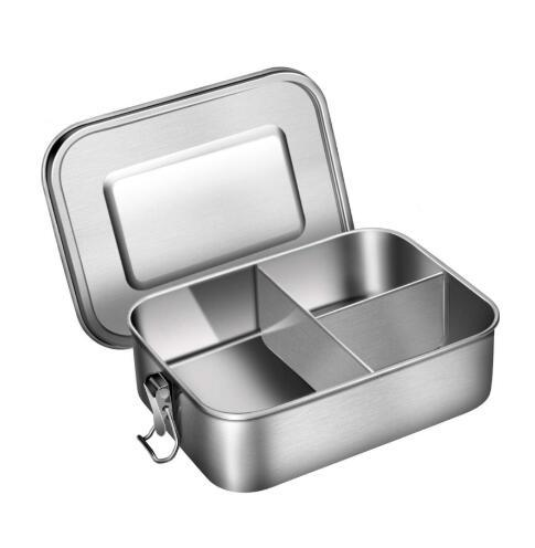 Stainless Steel Square Split Student Lunch Box Large Capacity pictures & photos