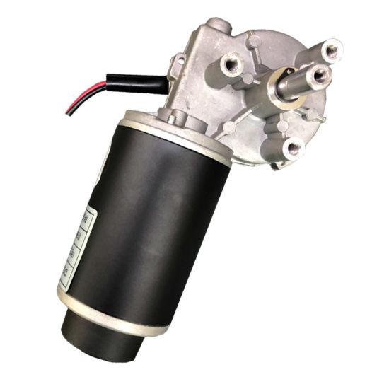 24 Volt 60 Watt Hall Sensor DC Geared Motor with Gear Ratio 28: 1