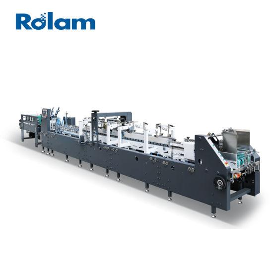 Crash Lock Bottom Paper Box Folding Gluing Machine (AS650/800/1100)