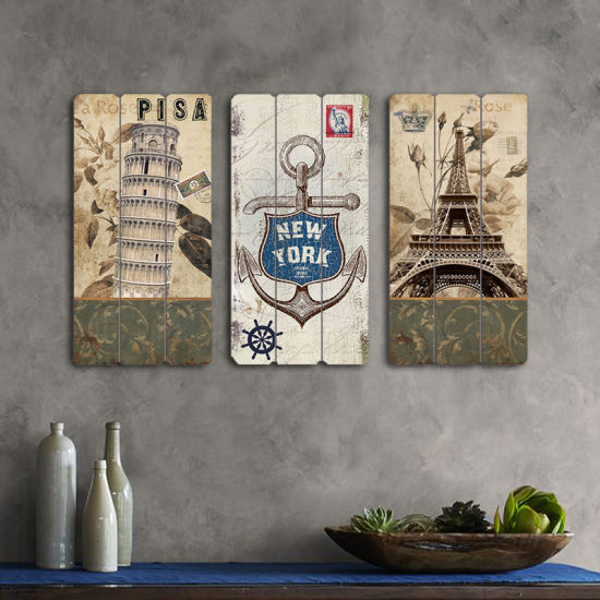 Home Decor Hanging Pictures Rustic Style Wood Ornamental Wall Art