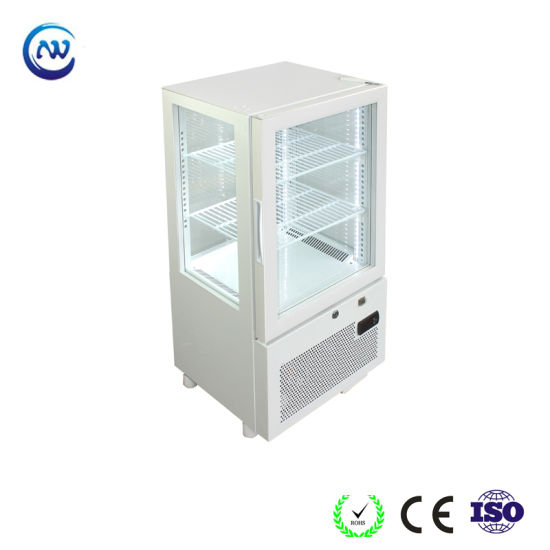 Four-Sides Tempered Glass Single Temperature Refrigerated Cake Display Cabinets Yy-58f