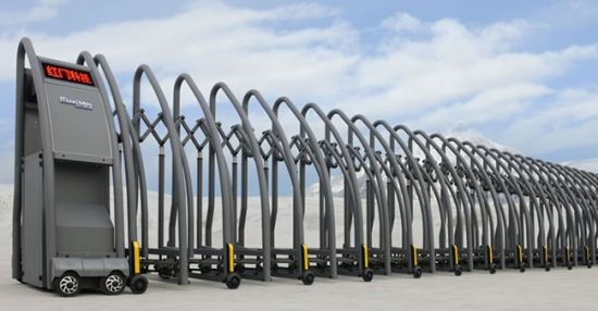 Strong Structure Retractable Safety Gate with Wireless Remote Control