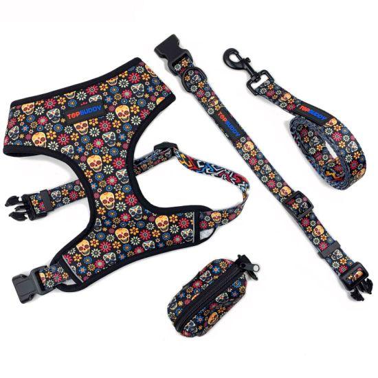 Hot Sale Custom Pattern Super Comfort Neck Adjustable Dog Harness