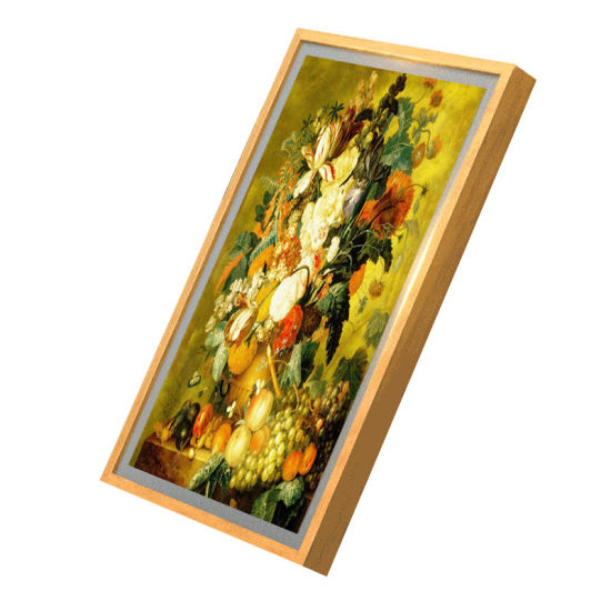 21.5-Inch Solid Wood Frame Multimedia LCD Display, Multifunctional Android Advertising Player