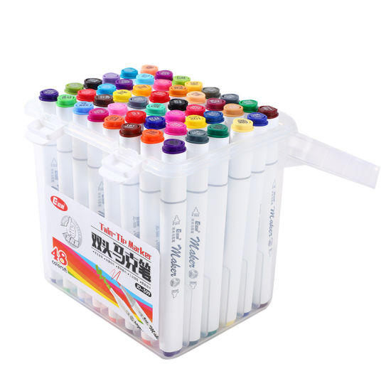 Professional Adult Use Rich Pigment 168 Colors Alcohol Based Graffiti Twin Art Marker Dual-Tip Sketch Marker