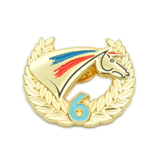 Handmade Die Casting Customized Metal Gold 3D Enamel Pin Badge