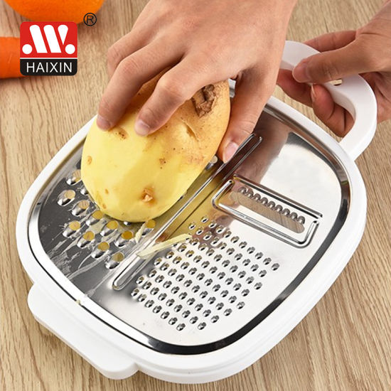Plastic Kitchen Tool Grater (stainless steel) for Vegetable and Potato