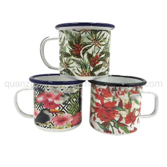 OEM Tropical Rainforest Flowers Classical Complex Patterns Porcelain Cup